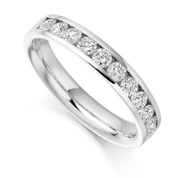 0.80cts Round Brilliant Diamond Half Eternity Ring