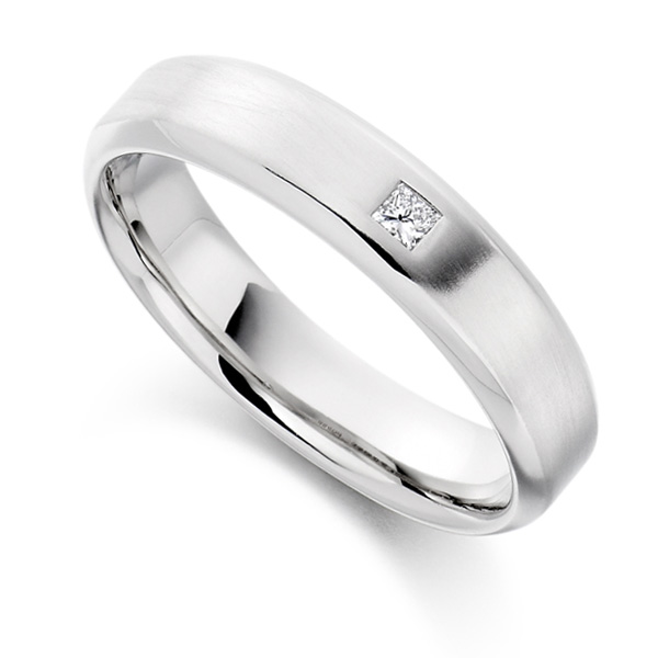 0.06cts Princess Cut Diamond Men's Wedding Ring