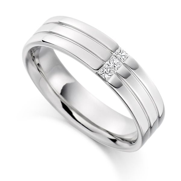 0 15ct Men S Princess Diamond Wedding Ring
