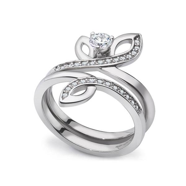 0.38cts Unique Diamond Engagement & Wedding Set