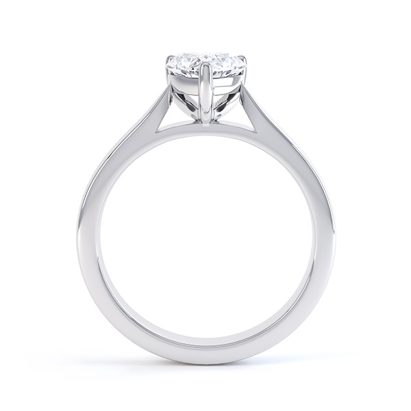 0.43cts Heart-Shaped Diamond Engagement Ring Front View