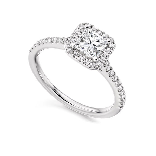 Princess Cut Diamond Halo Offer
