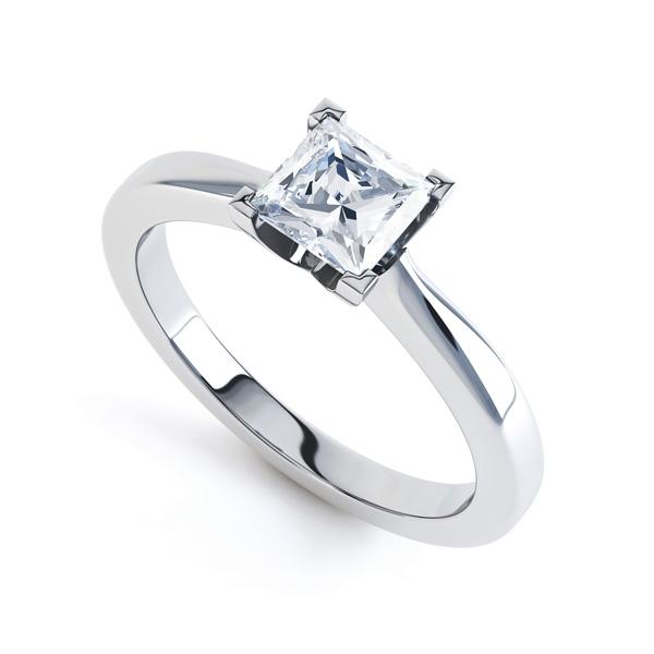 Four Claw Princess Cut Diamond Engagement ring Prospective
