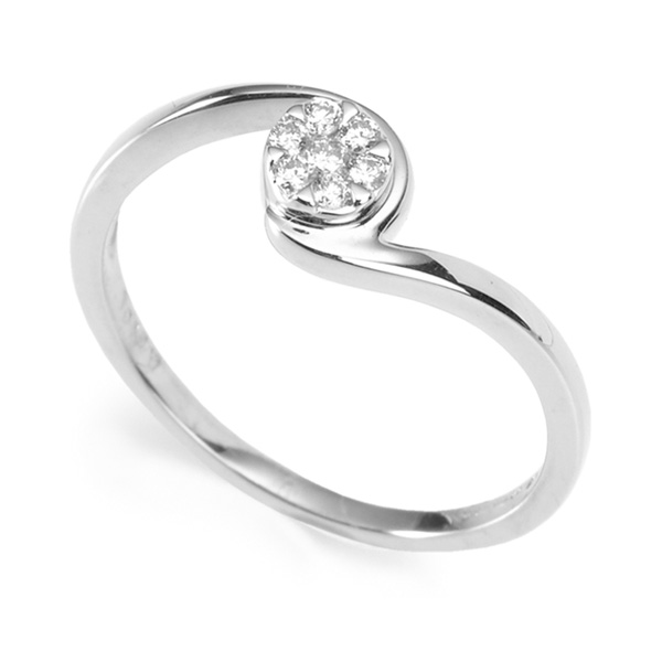 0.10cts Petite Diamond Ring with Twist Design