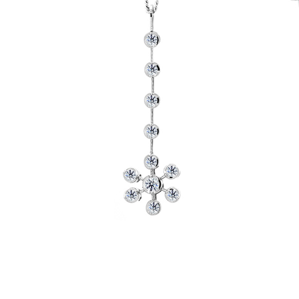 0.25cts Snowflake Diamond Drop Pendant
