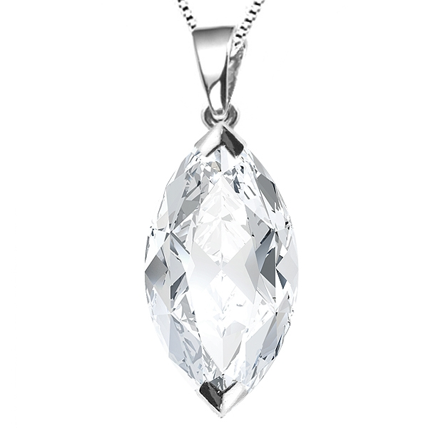 2 Claw Marquise Diamond Solitaire Pendant