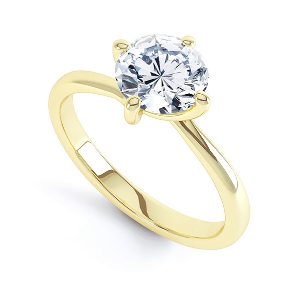 4 Claw Twist Diamond Engagement Ring