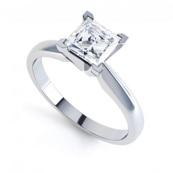 Modern 4 Claw Princess Cut Engagement Ring