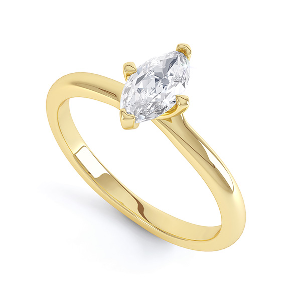 4 claw marquise twist engagement ring