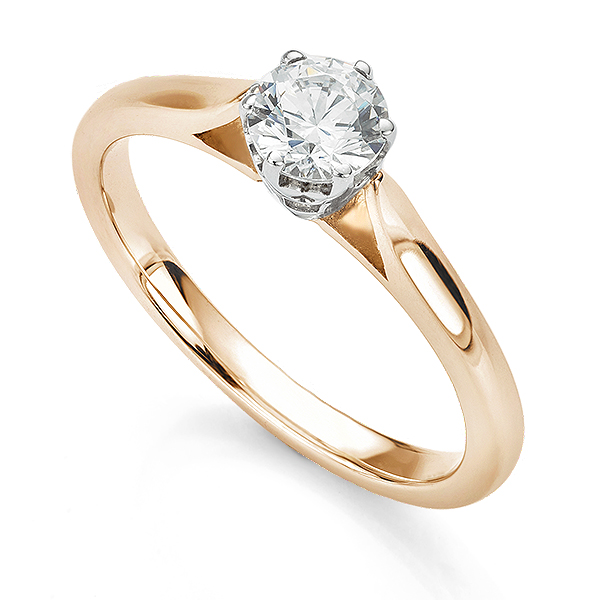 Beatrice engagement ring in Rose Gold