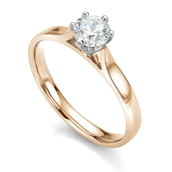 Ballerina rose gold solitaire engagement ring