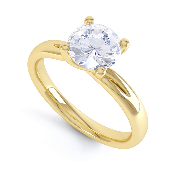 4 claw twist engagement ring with shoulders