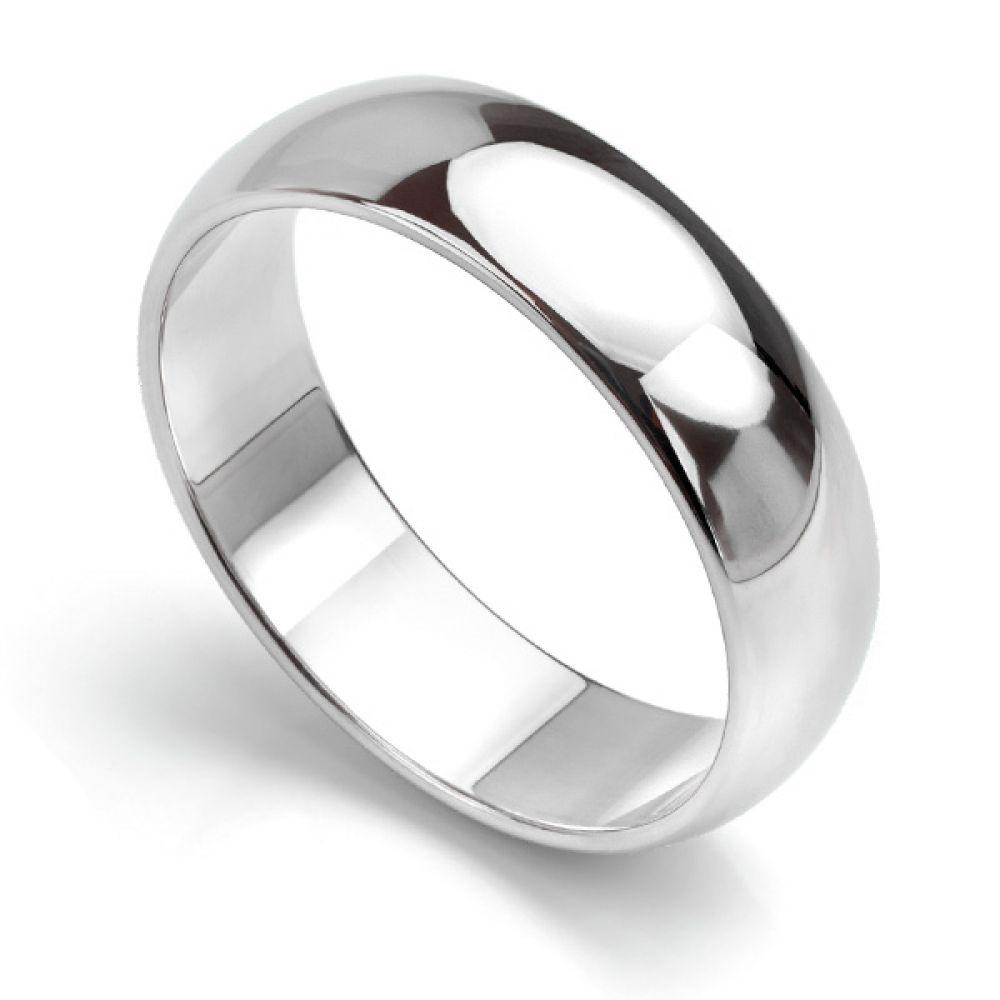 Shaped Wedding Band: Medium Weight D Shaped Wedding Ring