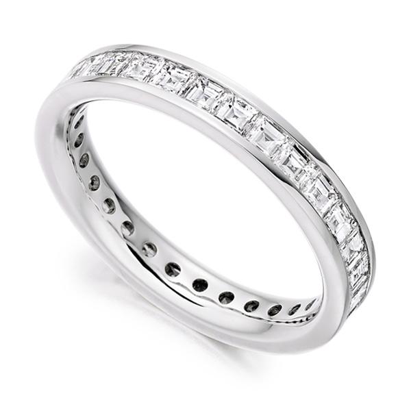 2 Carat Carré Cut Full Diamond Eternity Ring