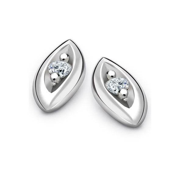 Entwine 950 Platinum Diamond Stud Earrings