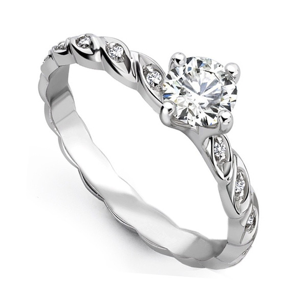 0.25cts Unique Entwine Styled Engagement Ring