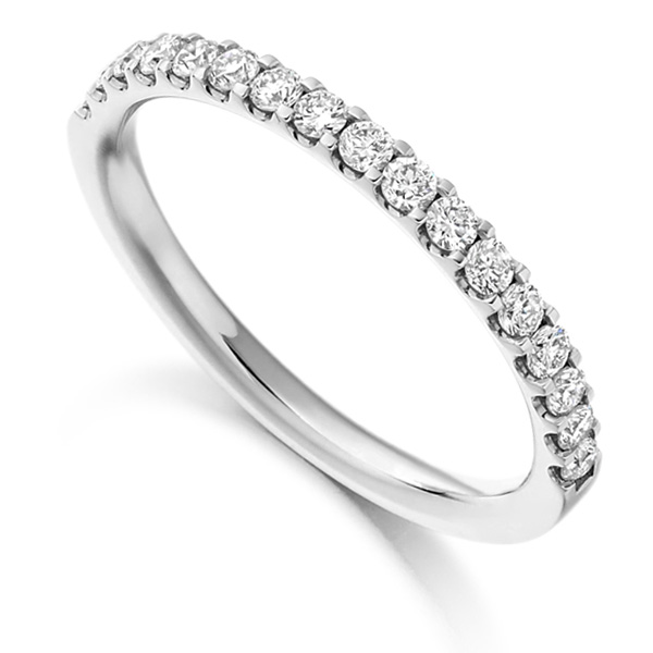 0.33cts Claw Set Half Diamond Eternity Ring