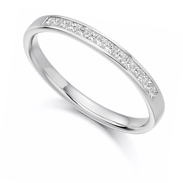 0.20cts Princess Cut Diamond Half Eternity Ring