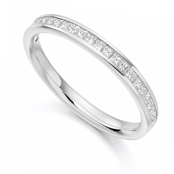 0.33cts Princess Cut Diamond Half Eternity Ring