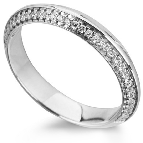 Apex Knife Edged Diamond Wedding Ring