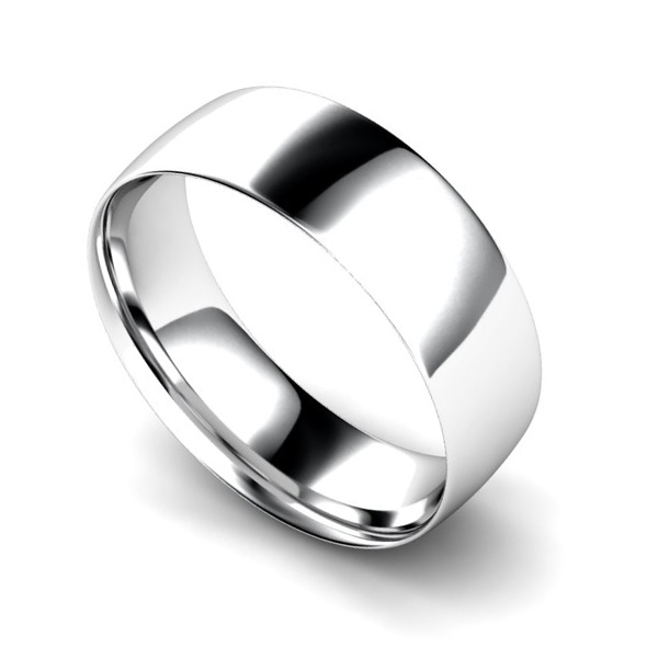 Light Weight Court Profile Wedding Ring