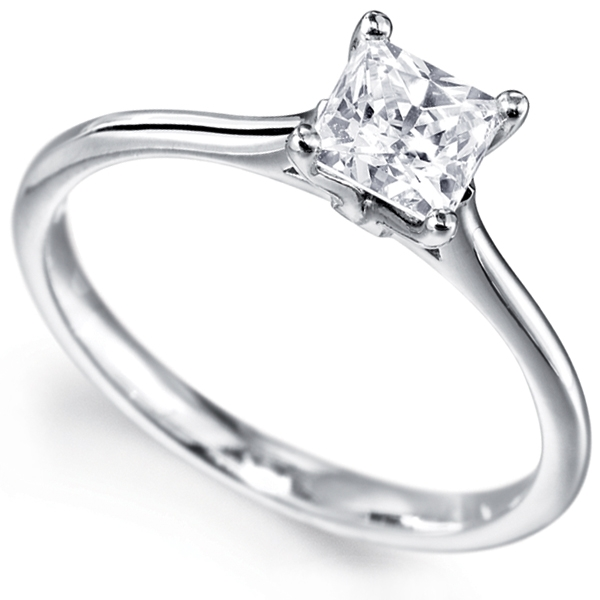 0.51cts J SI1 Certified 4 Claw Engagement Ring