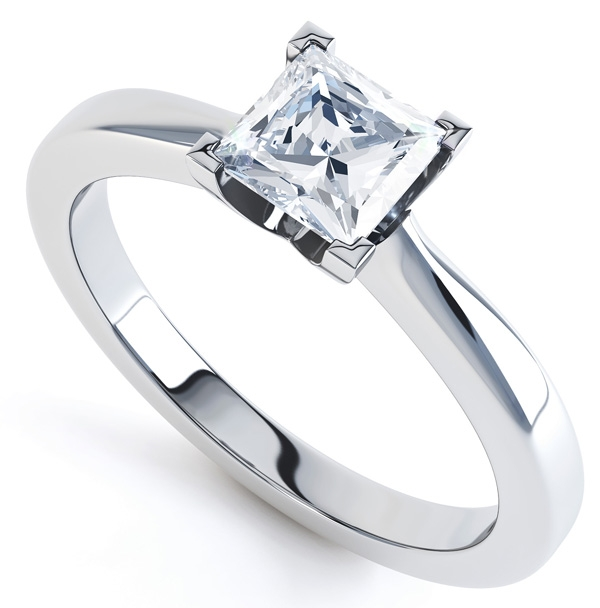 0.51cts J SI1 Four Claw Tiffany Style Engagement Ring