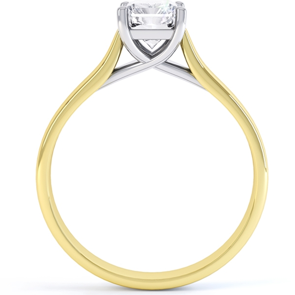 Rectangular Radiant Cut Diamond Engagement Ring
