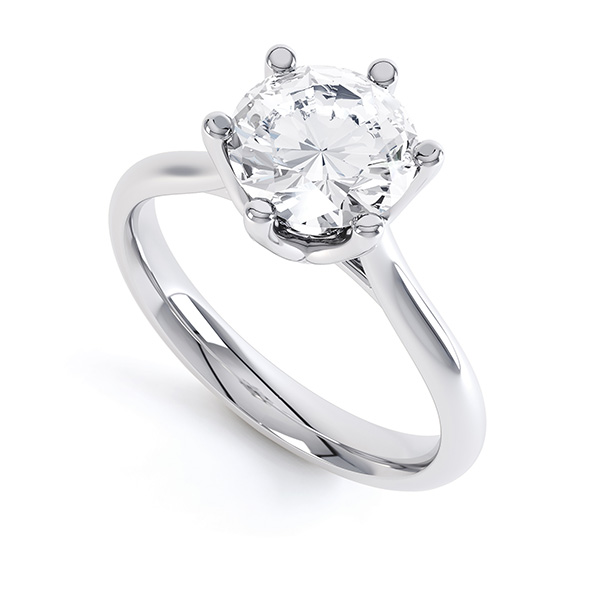 Tiffany Inspired Solitaire Engagement Ring