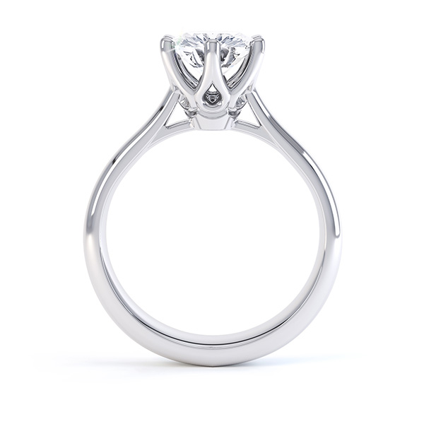 Tiffany Inspired Solitaire Engagement Ring Front View