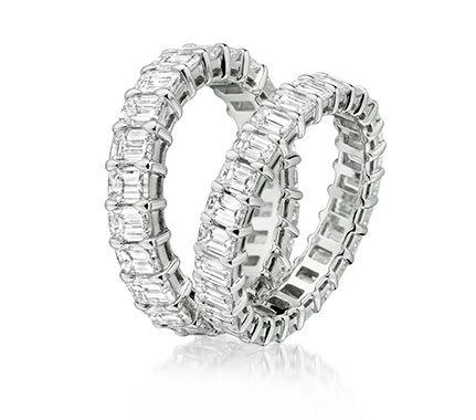A pair of eternity rings matching in design from our luxurious collection