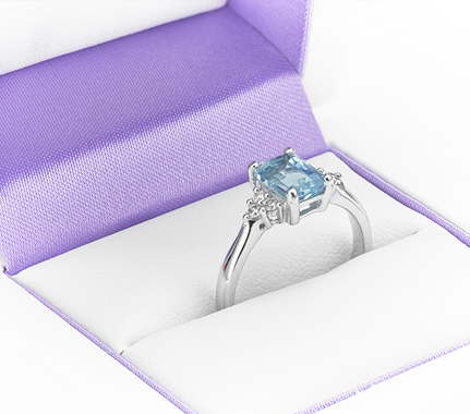 Amethyst and diamond engagement ring from our jewellery special offers