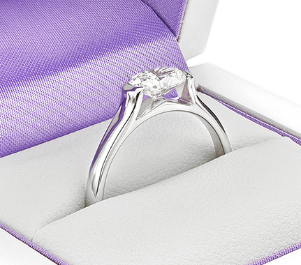 Ursula oval diamond engagement ring