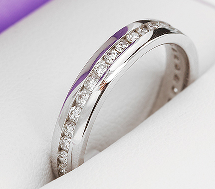 Full eternity ring with channel setting from the eternity rings collection at Serendipity Diamonds.