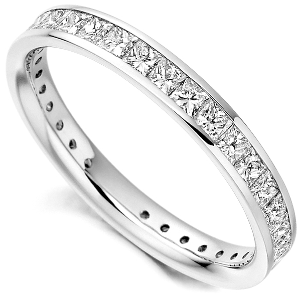 1.30cts Princess Cut Diamond Full Eternity Ring