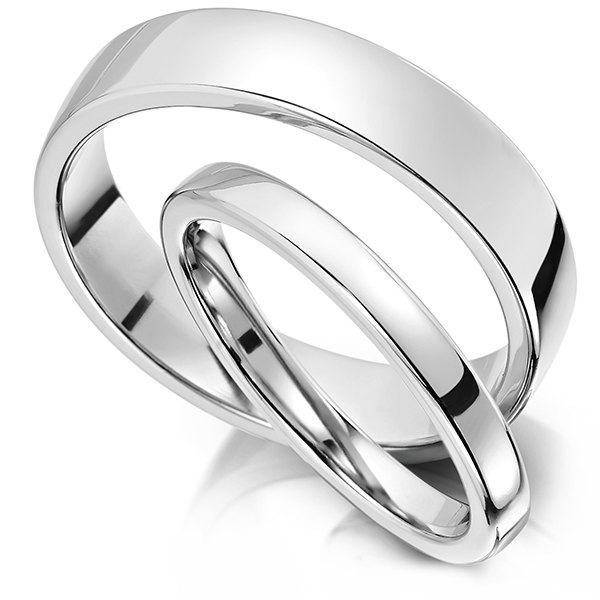 slight court wedding ring with polished edge