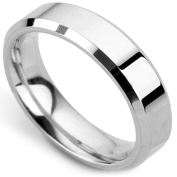 Heavyweight Bevelled Wedding Ring