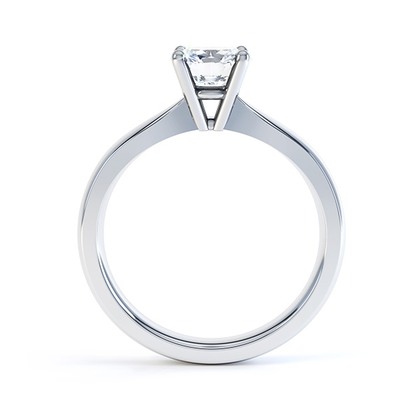 Side view of R1D004 Ella engagement ring