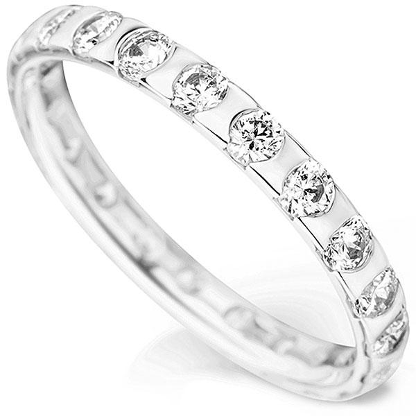 A Stunning Fully Flush Set Diamond Wedding Ring
