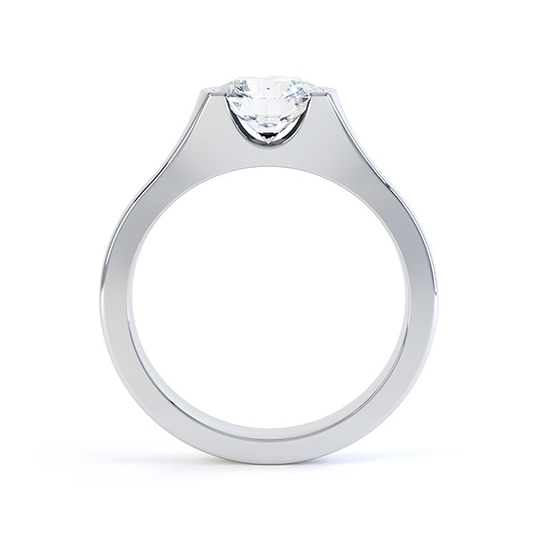 Chloe engagement ring white gold side view