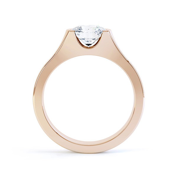 Chloe engagement ring rose gold side view