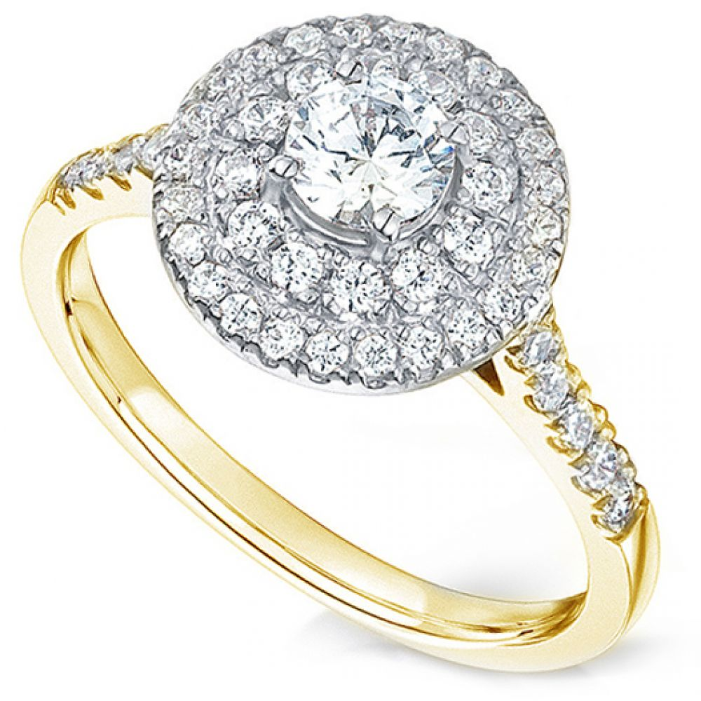 double halo round diamond engagement ring. Black Bedroom Furniture Sets. Home Design Ideas