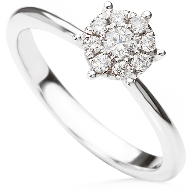 Starla solitaire effect engagement ring
