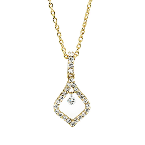 Scintillating yellow gold maya diamond pendant