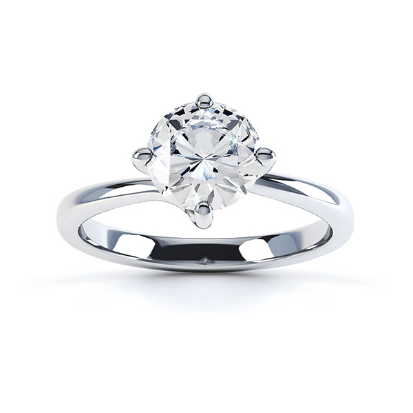 Twist engagement ring top view