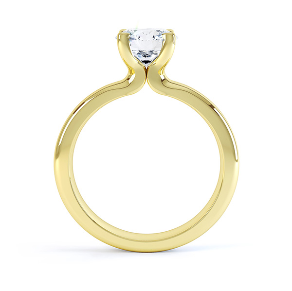 Canadamark engagement ring side view yellow gold
