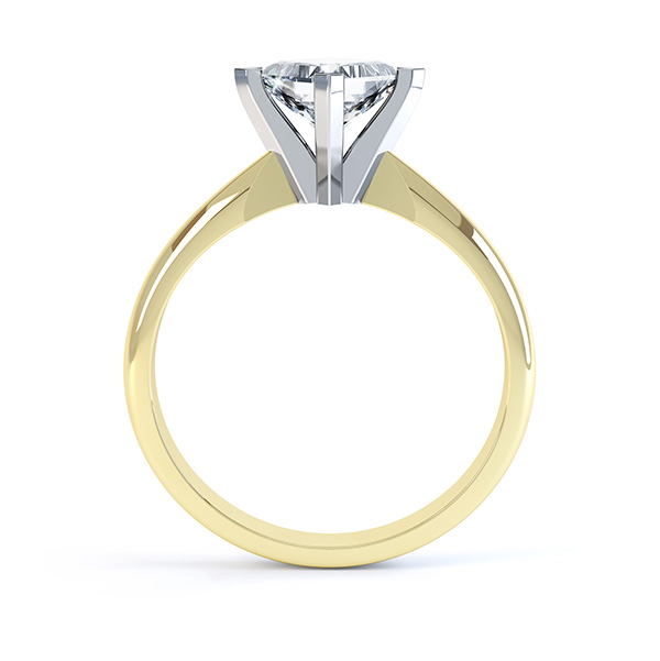 Ignis 4 Claw Princess Cut Diamond Engagement Ring