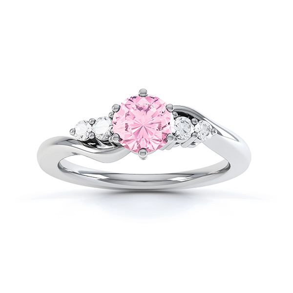 tickled pink sapphire engagement ring