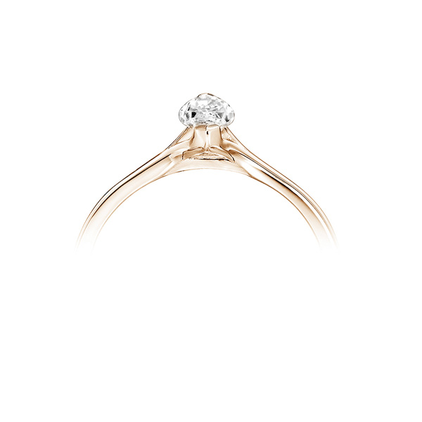 Split Shoulder 2 Claw Marquise Diamond Ring Rose Gold Side