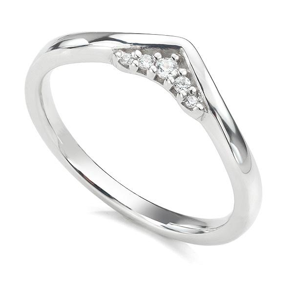 Coronet diamond wedding ring in white gold